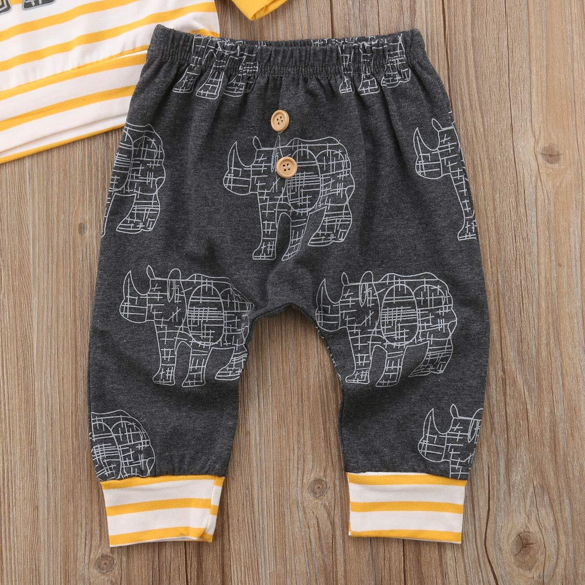 Amazon.com: Conjunto de ropa para bebés y niños de 2 piezas ...