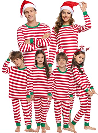 Sykooria Christmas Family Juego de Pijama a Juego Ropa de Dormir de Navidad de Cuerpo Entero Conjunto de Ropa de Dormir de algodón Pjs de Manga Larga ...