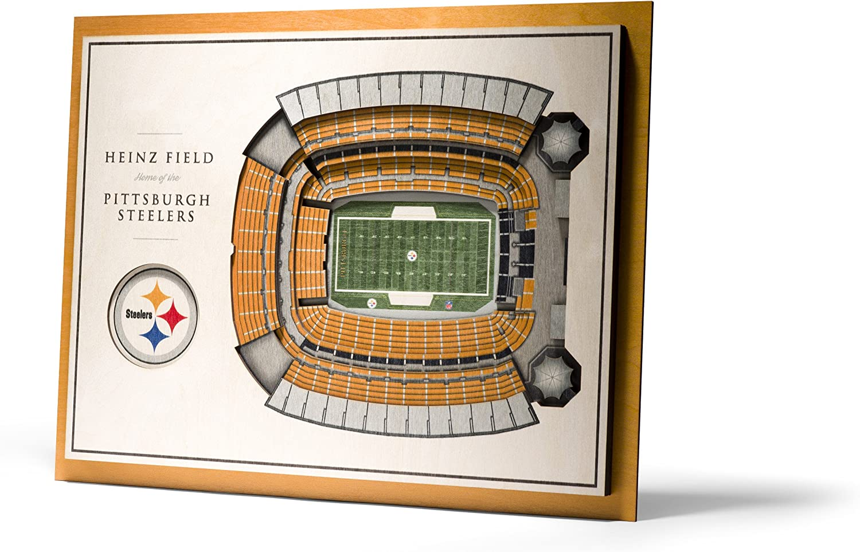 YouTheFan NFL 5-Layer 17 x 13 StadiumViews 3D Wall Art