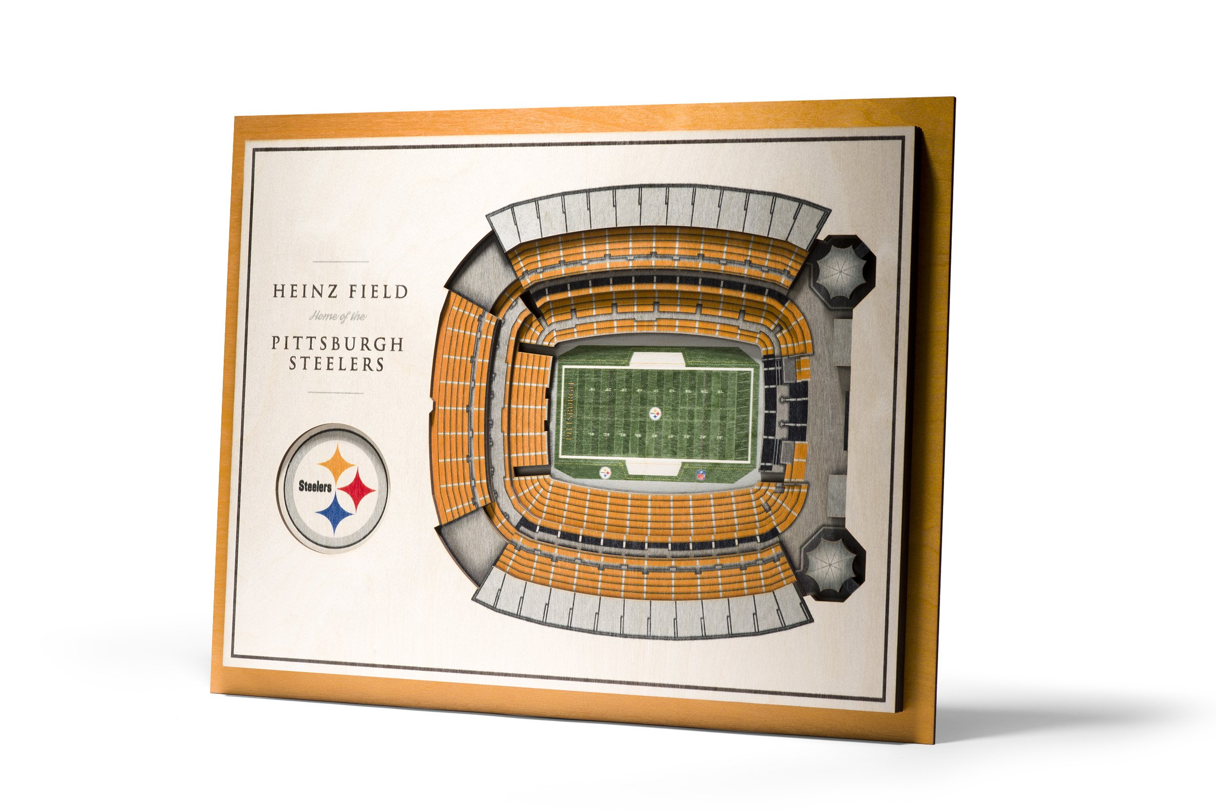NFL Pittsburgh Steelers 5-Layer Stadiumviews 3D Wall Art by YouTheFan