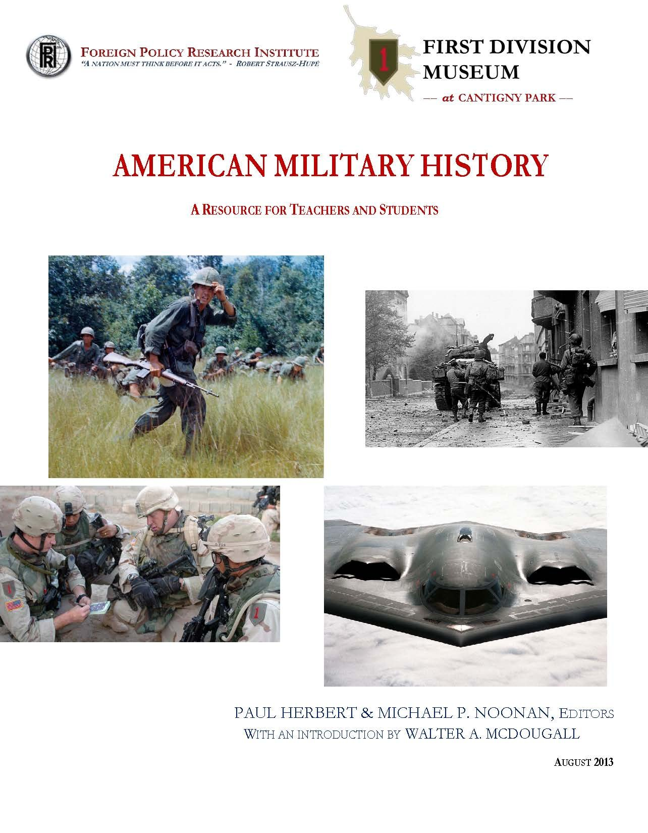 Download American Military History A Resource for Teachers and Students, Foreign Policy Research Institute 2013 [Loose Leaf Edition] pdf
