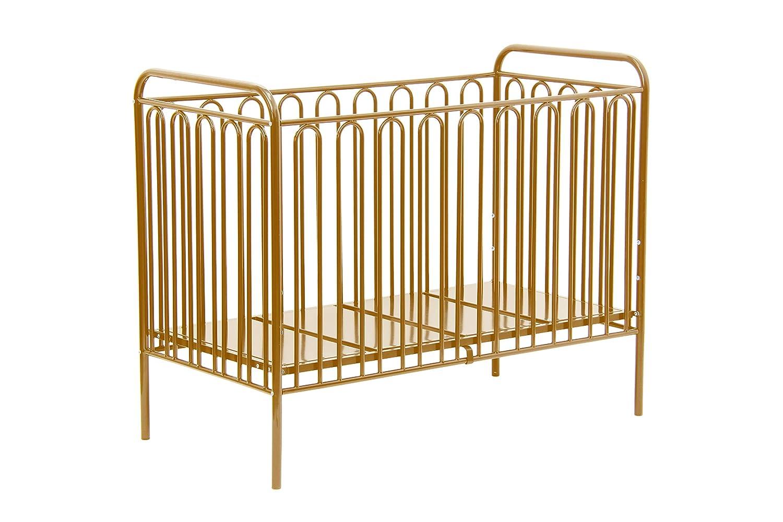 Polini Vintage, Metal Baby Cot 150, Gold Kidsaw