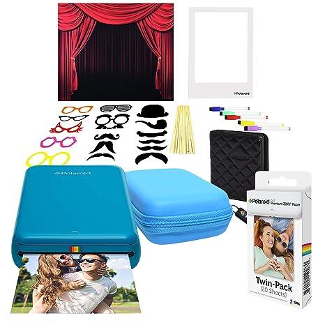 Polaroid Zip Impresora de Fotos Inalámbrica (Azul) Kit con ...