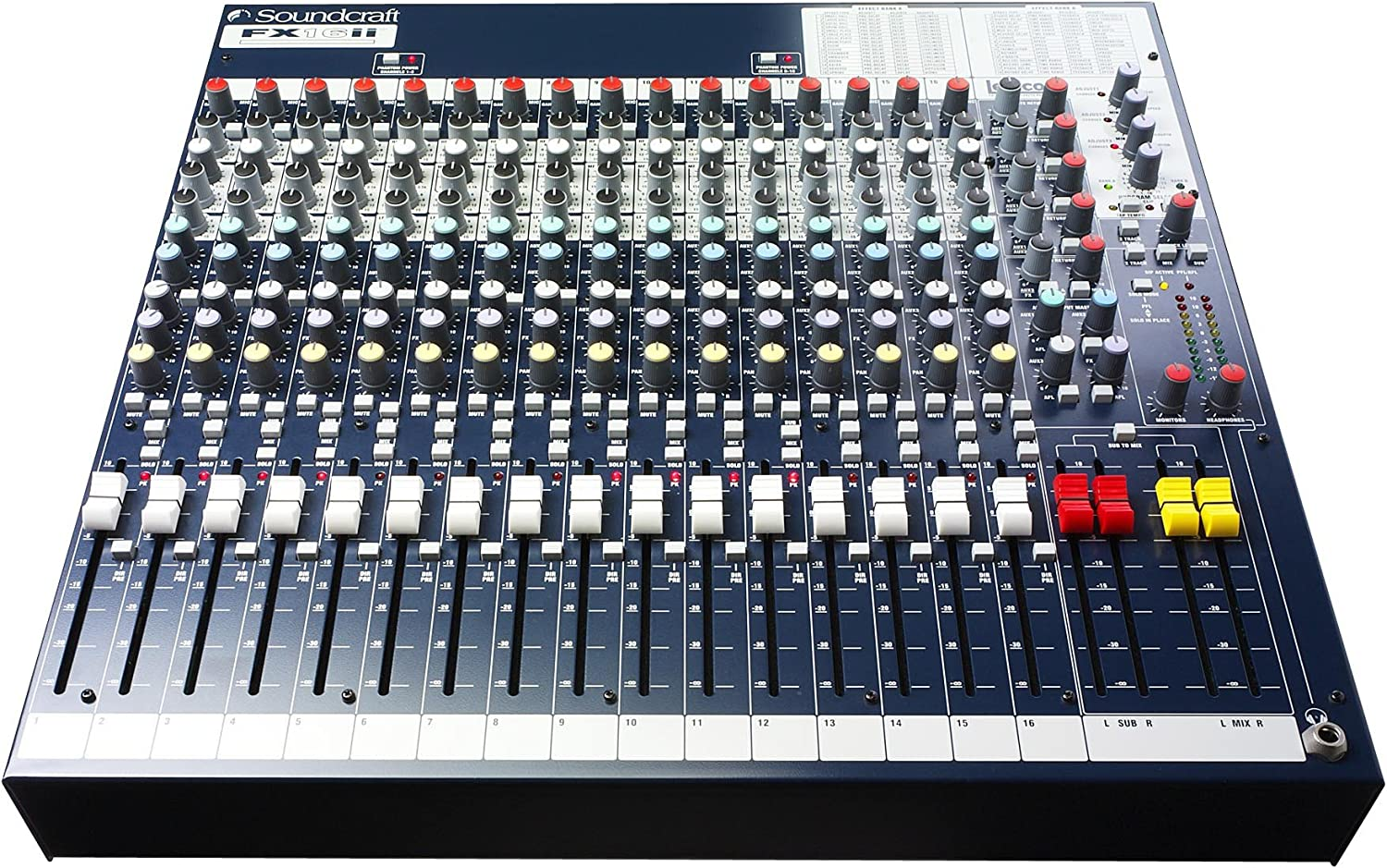 Soundcraft FX16ii Professional Compact Recording/Live Lexicon Effects Mixer