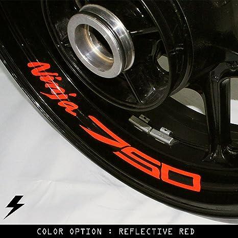 Amazon.com: Kawasaki Ninja 750 Motorcycle Inner Rim Sticker ...