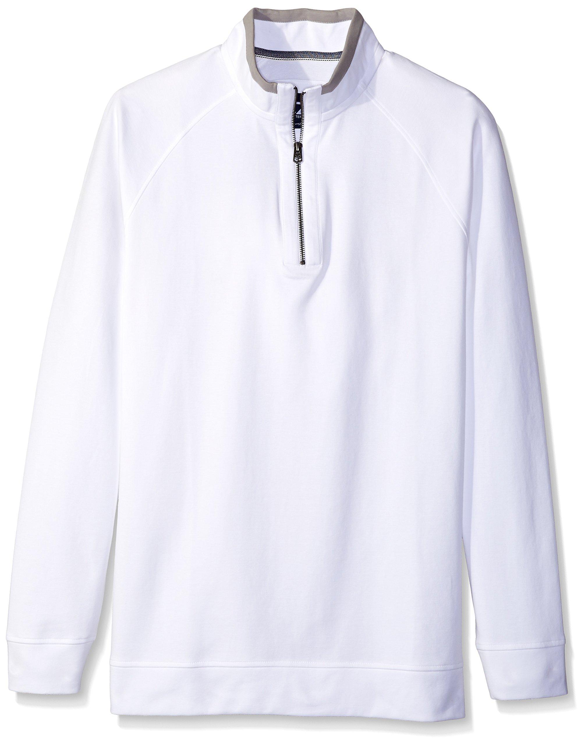 Cutter & Buck Men's Big and Tall Emery Half-Zip Sweatshirt, White, 2X/Big