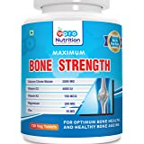 ProNutrition Bone Strength Supplement with Calcium Citrate, Vitamin D3, K2, Magnesium, Zinc - Pac of 120 Vegetable Tablets
