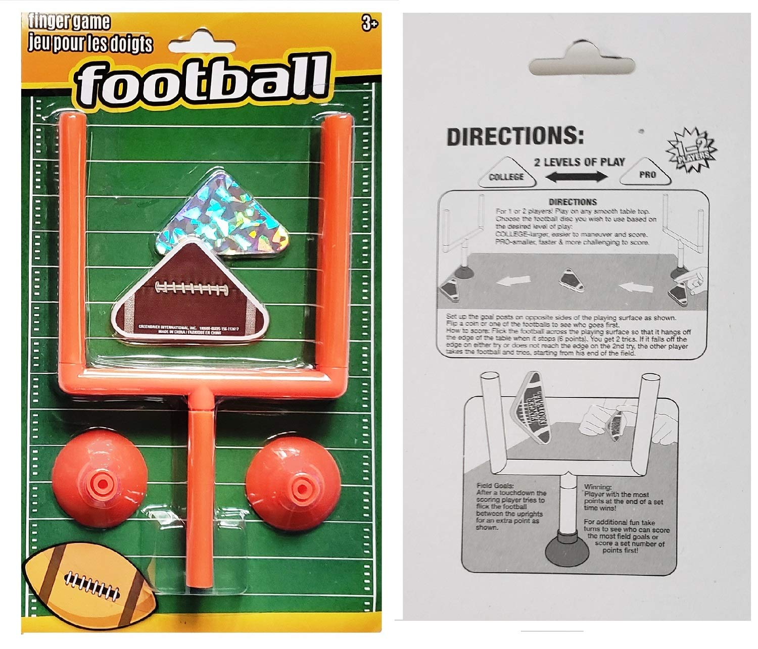 Finger Football Game with Suction Goal Post with 2 Play Footballs