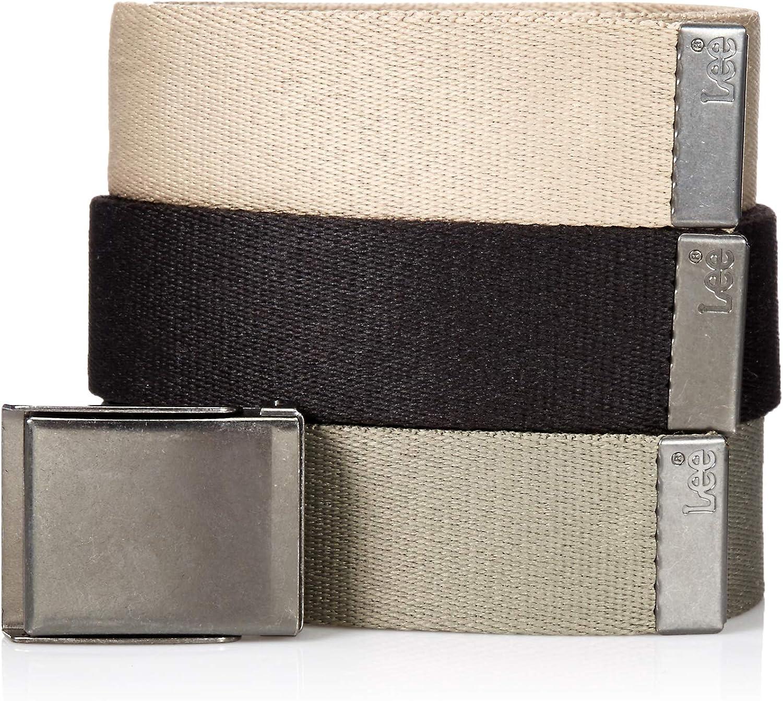 Lee mens Signature Web Belt Pack of Three Belt