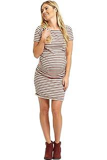 34ed77c876 Ingrid   Isabel Women s Maternity Pleated Tank Dress at Amazon ...