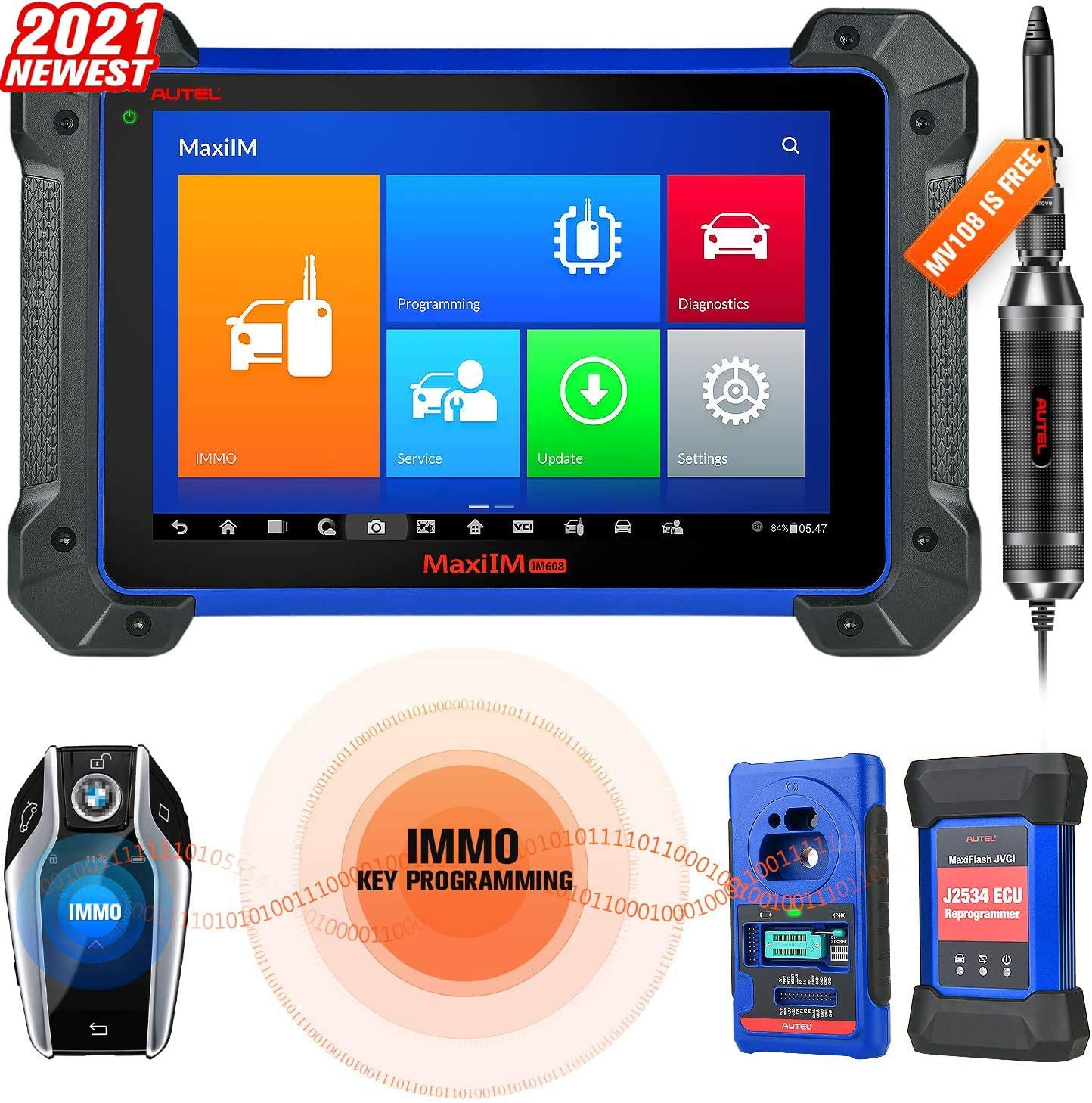 Amazon.com: Autel MaxiIM IM608 [with MV108 Scope] Key Programming Tool 2021  Newest No IP Restriction with IMMO and Key Programmer XP400, J2534  Reprogrammer, Bi-Directional Diagnostic Scanner All Systems Diagnosis:  Automotive