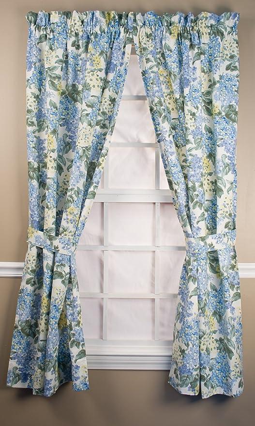 Amazon Com Hydrangea Empress Valance Blue Home Kitchen