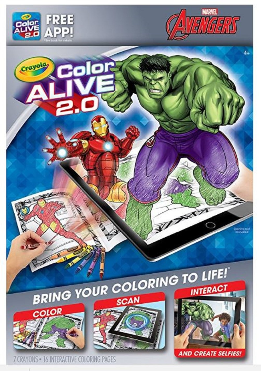 Amazon.com: Color Alive 2.0 Coloring Pages; Avengers, Skylanders and ...