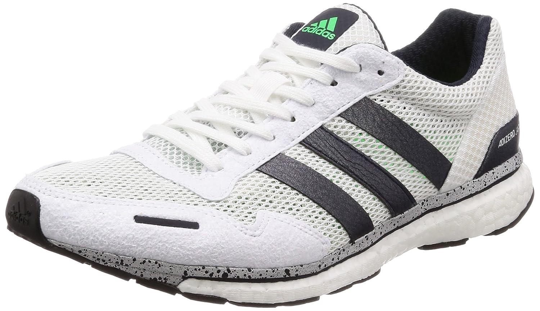 Adidas Adizero Adios 3 M, Zapatillas de Running para Hombre 45 1/3 EU|Azul (Legend Ink F17/Shock Lime/Hi-res Blue S18)
