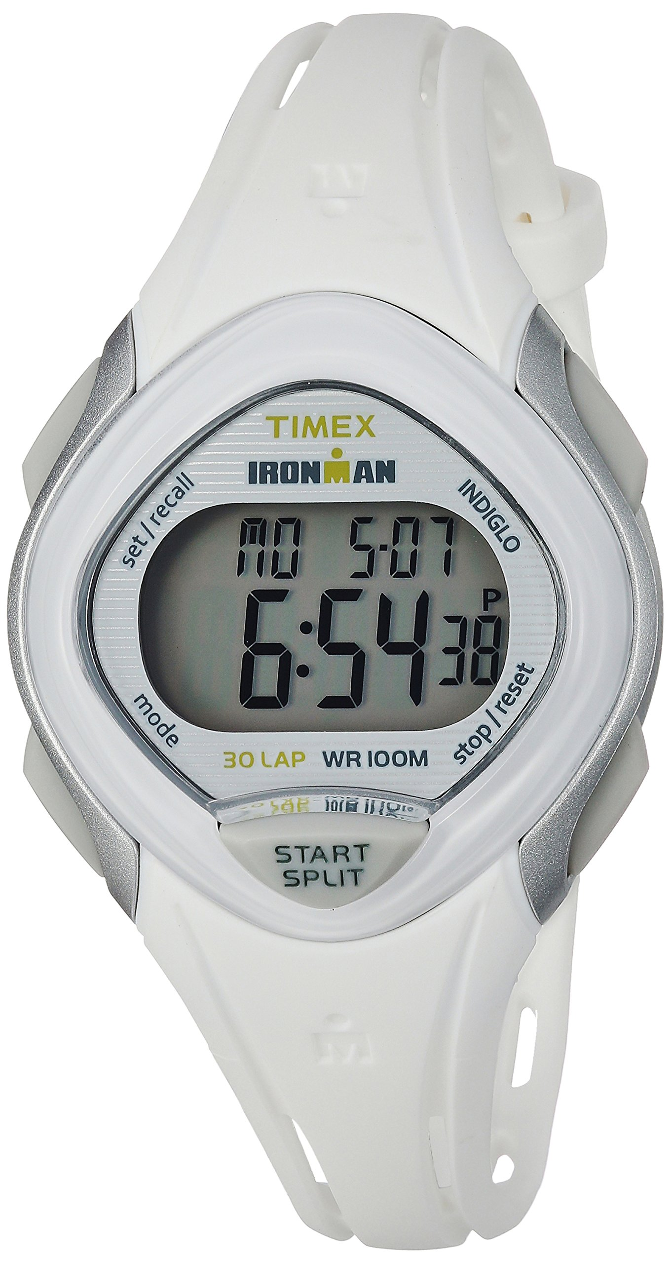 Timex Women's TW5M12400 Ironman Sleek 30 White Resin Strap Watch by Timex (Image #1)
