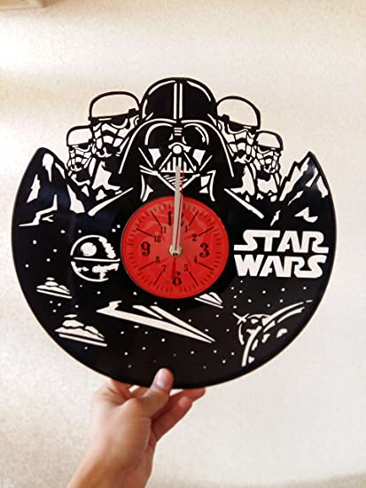 STAR WARS Handmade Vinyl Record Wall Clock   Get Unique Home Room Wall  Decor   Gift