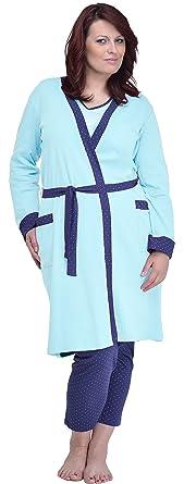 Merry Style Batas Tallas Grandes Plus Size Ropa de Cama Interior Lencería Mujer 484 (Turquesa
