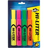Hi-Liter Desk-Style Highlighters, Assorted Colors, Pack of 4 (24063)