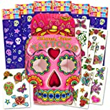 Day of the Dead Sugar Skull Stickers and Tattoos Party Favors Pack Kids Girls -- 192 Skulls Stickers and 35 Day of the Dead Temporary Tattoos (Sugar Skull Party Supplies)
