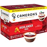 Cameron's Coffee Single Serve Pods, Flavored, Highlander Grog, 12 Count (Pack of 1)