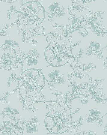Zeitlos Elegante Barock Tapete Mit Uppigem Floralem Muster In Edlem Hellblau Turkis Vlies Tapete Ornamente Klassische Gmm Wandtapete Fur Edle Wohnakzente Muster 20 X 46 5cm Amazon De Baumarkt