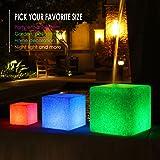 INNOKA 12-inch Large LED Light Cube [Unique Granite