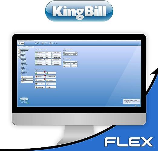 Rechnungsprogramm Kingbill Flex Fur Handwerker Und Dienstleister Klein Und Mittelbetriebe Aller Branchen Kein Abo Inkl Support Amazon De Software