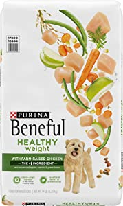 Purina Beneful Healthy Weight Dry Dog Food, Healthy Weight with Real Chicken - 14 lb. Bag