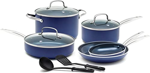 Blue Diamond Cookware Pan Toxin Free Ceramic Nonstick Cookware Set