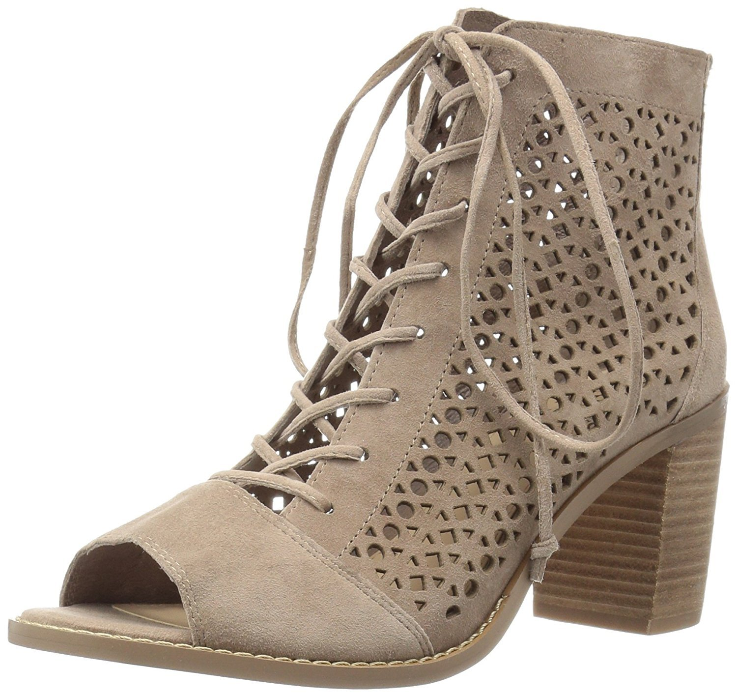 Vince Camuto Womens Trevan Suede Open Toe Ankle Fashion, Smoke Cloud, Size 11.0
