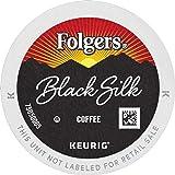 Folgers Black Silk Dark Roast Coffee, 96 K Cups for Keurig Coffee Makers