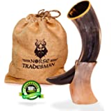Norse Tradesman Viking Drinking Horn (Genuine Ox-Horn) - 12-Inches/16oz