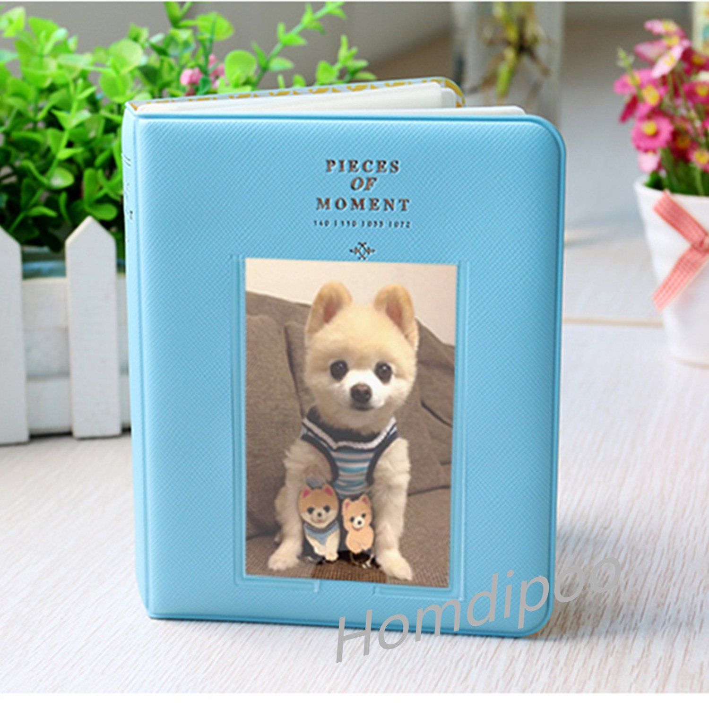 Homdipoo 64 Pockets Photo Album for Mini Fujifilm Instax Polaroid & Name Card (Blue)