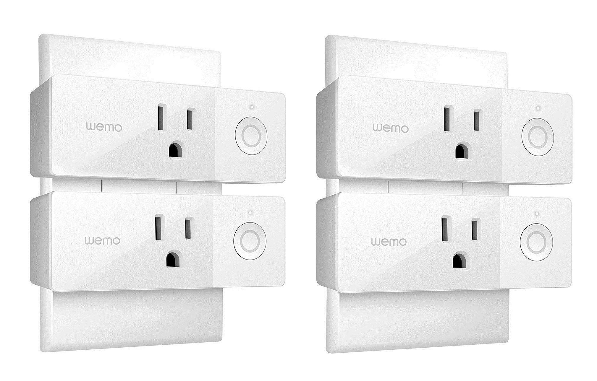 Wemo Mini Smart Plug, Wi-Fi Enabled, Compatible with Alexa (F7C063-RM2) (4 pack) (Renewed) by WeMo (Image #1)
