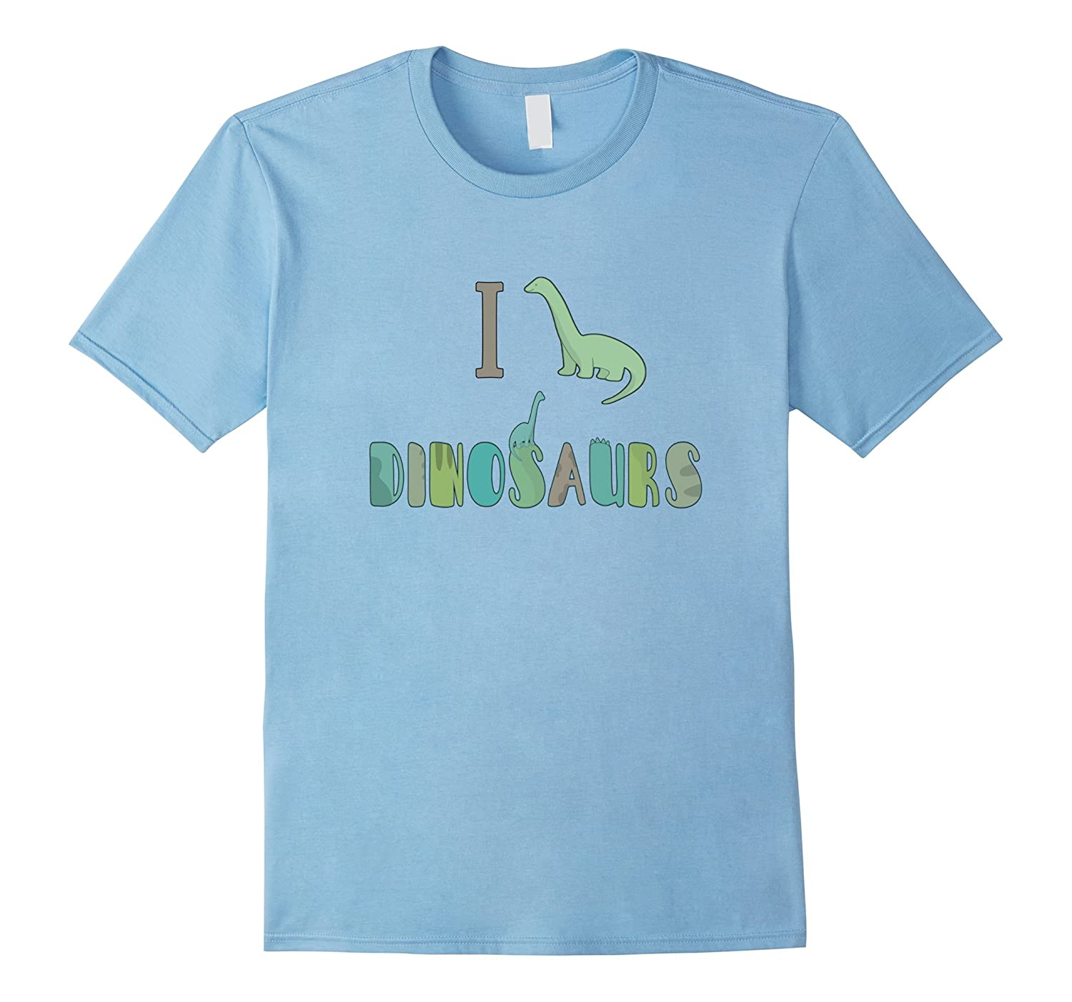 I Love Dinosaurs Brontosaurus Science Paleontology Shirt