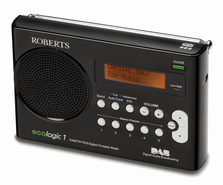 Roberts ECO1BK Ecologic 1 DAB/FM RDS Digital Radio with Built-in ...