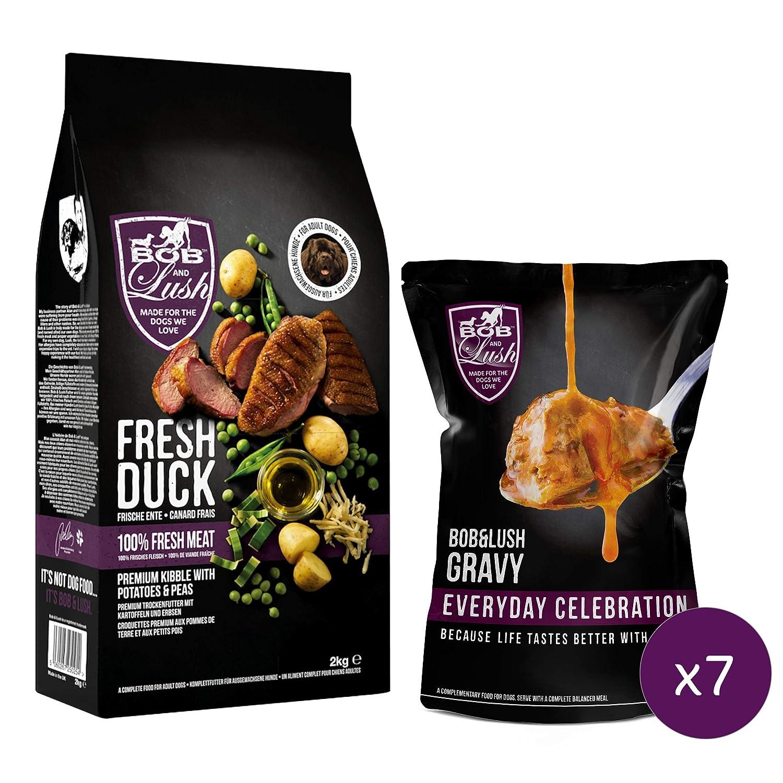 7.5kg Bob & Lush 60% Delicious Duck Kibble (No Gravy, 7.5kg)