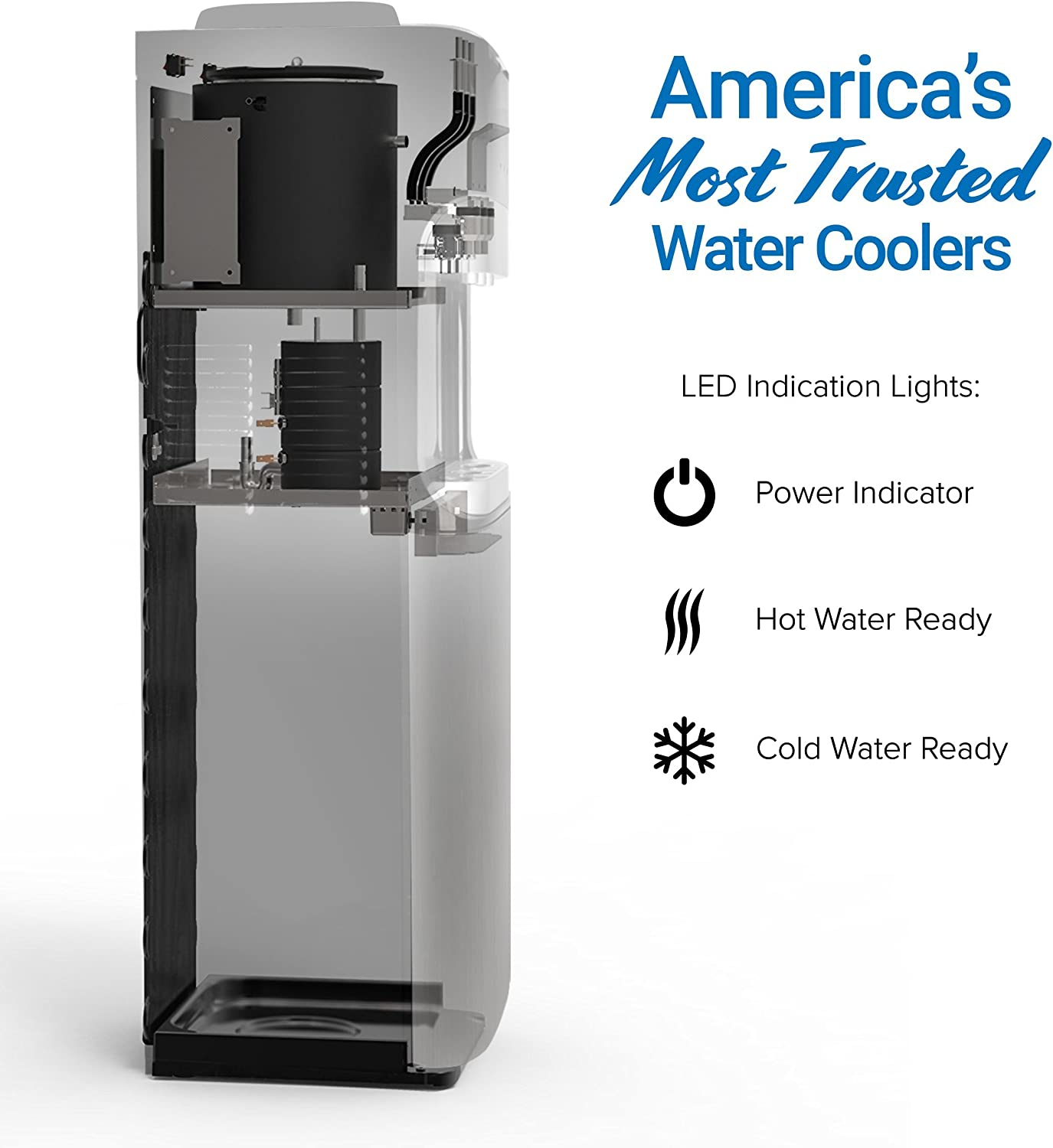 Brio CLTL420 Free-Standing Water Dispenser - 3 temperature modes