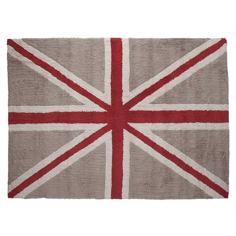 Lorena Canals Tapis lavable en machine drapeau (Lin/Rouge) Flag Linen Linen - Red C-F-ELR