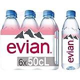 Evian Natural Mineral Water 6 X 500ml