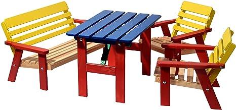 dobar 94370FSC kindersi Jardin avec banc pour quatre enfants en bois ...