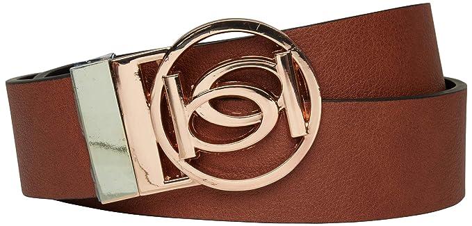 Amazon.com: Bebe - Cinturón reversible con hebilla de ...