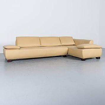 Amazonde Koinor Volare Leder Sofa Beige Ecksofa Echtleder Couch 6339