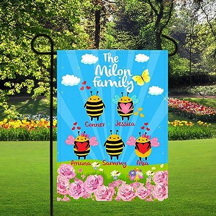Amazon Com Dozili Garden Flags Personalized Bees Family Name Flag