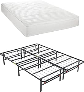 Classic Brands Advantage Individually Wrapped Coils Innerspring 8-Inch Firm Mattress with Hercules Heavy-Duty 14-Inch Platform Metal Bed Frame, Twin