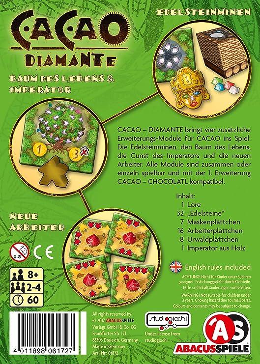ABACUSSPIELE 06172 Cacao 2. Diamante de expansión, Juegos y Puzzles: Walker-Harding, Phil: Amazon.es: Juguetes y juegos