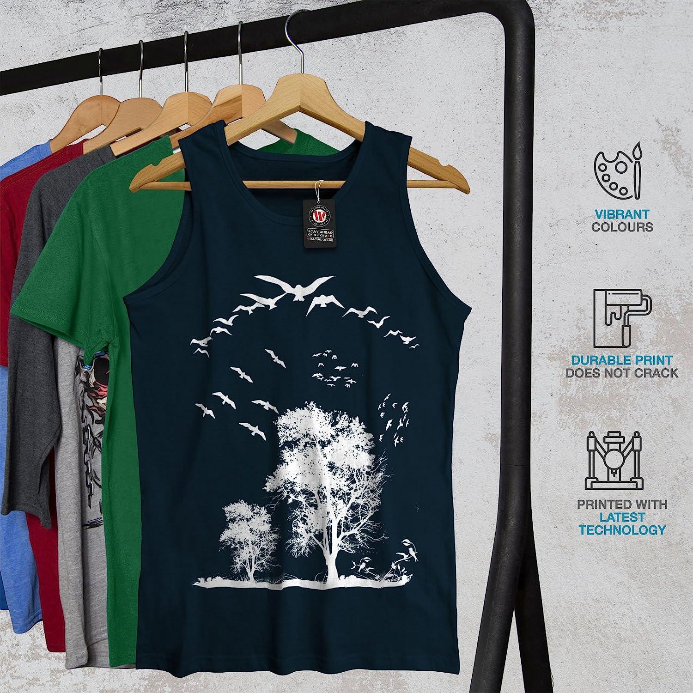 Wellcoda Bird Freedom Fly Mens Tank Top Nature Fit Lifestyle Sports Shirt