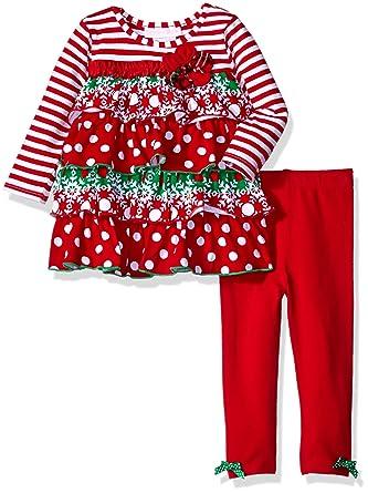 - Amazon.com: Bonnie Baby Girls Christmas Dress And Legging Set: Clothing