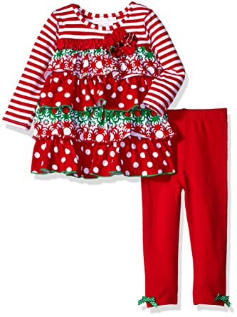 Amazon Bonnie Baby Girls 2 Pc Knit Playwear Set With Tiered