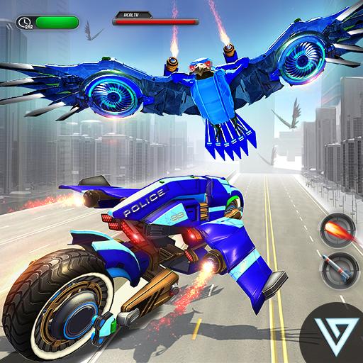 (US Police Flying Bike: Eagle Robot Transformation )